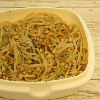 Meal Prep Spagetti mit Pilze