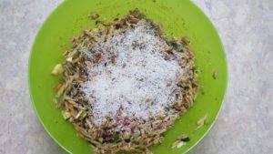 Zubereitung in der Schüssel inkl. Parmesan