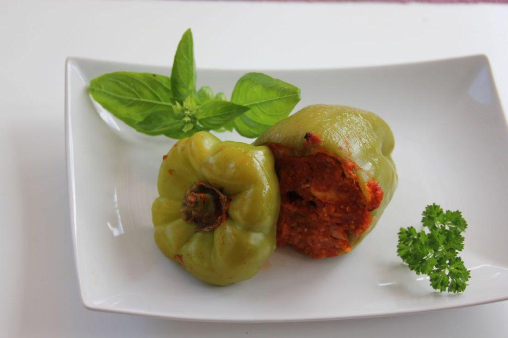Gefüllte Paprika mit Hirse-3